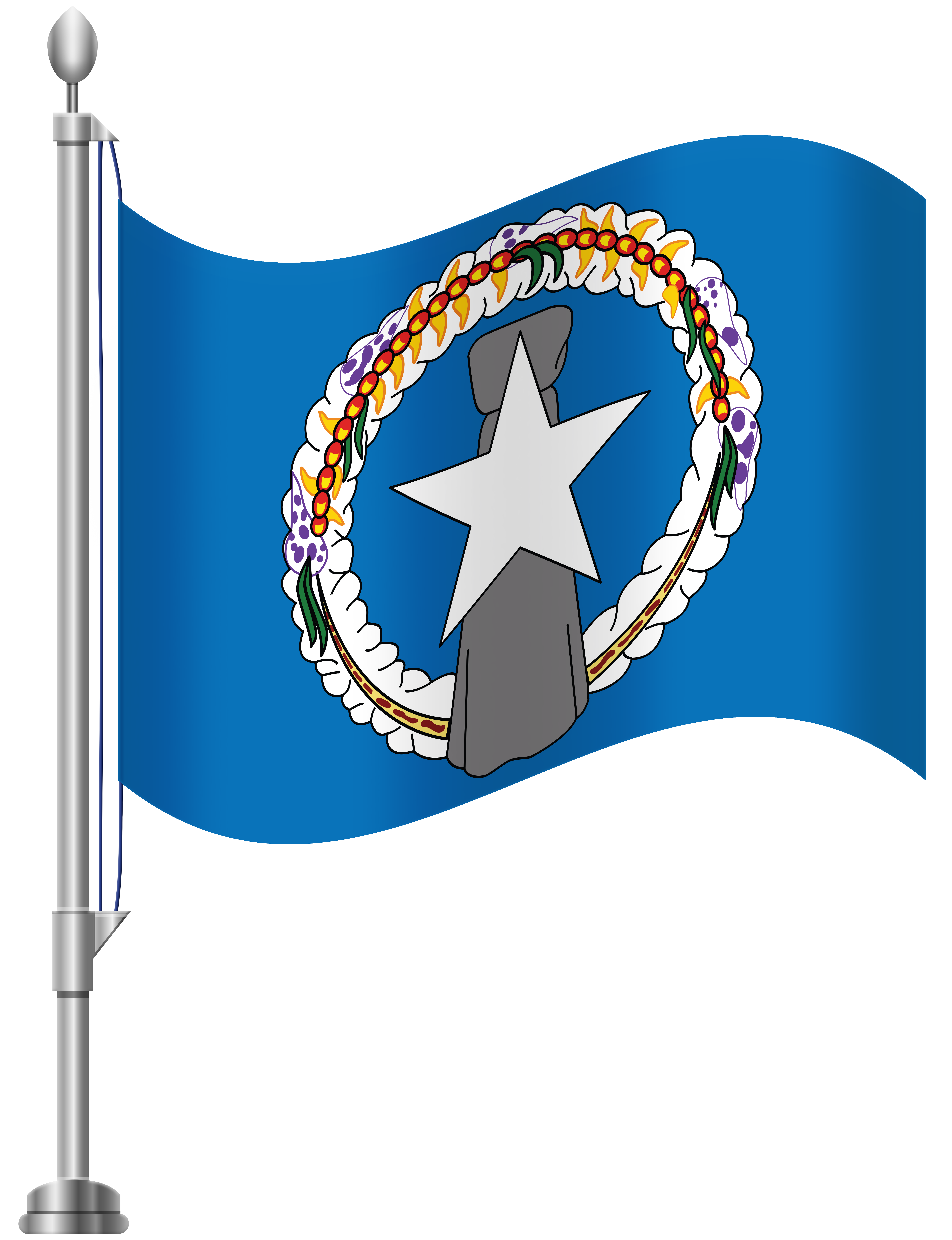Northern Mariana Islands Flag PNG Clip Art.