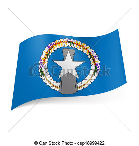 Vector Illustration of State flag of Northern Mariana Islands.