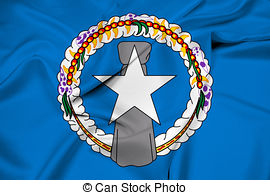 Waving flag of northern mariana islands Clipart and Stock.