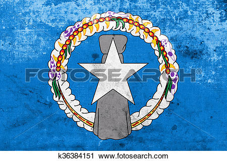 Clipart of Flag of Northern Mariana Islands, with a vintage and.