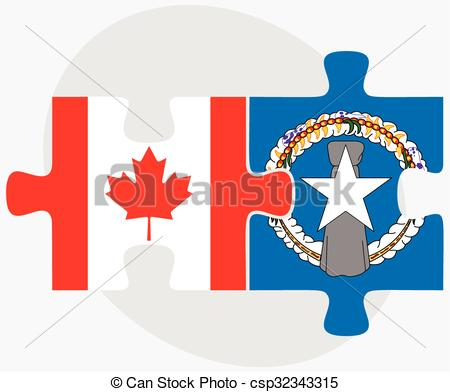 Vector Clip Art of Canada and Northern Mariana Islands Flags in.