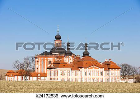 Stock Images of cistercian priory, Mariansky Tynec, Czech Republic.