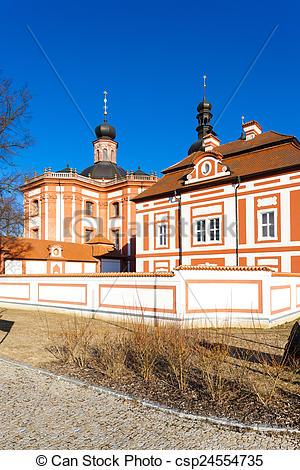 Stock Fotos von Priorat, mariansky, Tschechisch, Cistercian.