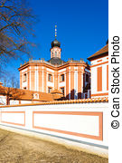 Pictures of cistercian priory, Mariansky Tynec, Czech Republic.