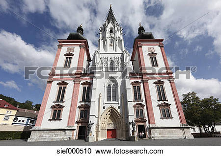 Stock Photography of Austria, Styria, Mariazell, View of.