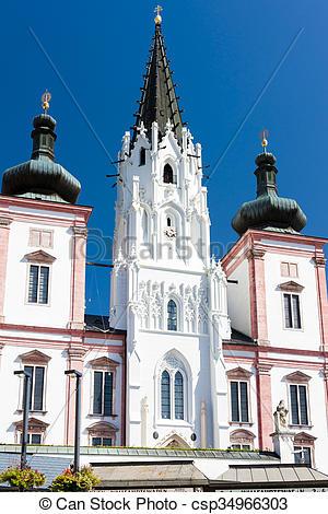 Photographies de pèlerinage, Autriche, basilique, mariazell.