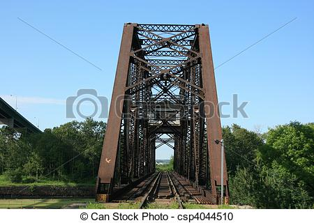 Stock Photography of Old Train Bridge.