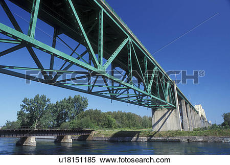 Stock Image of bridge, Sault Ste. Marie, MI, Michigan, Upper.