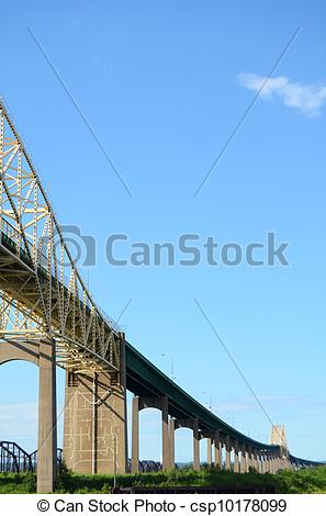 Stock Photographs of Sault Ste. Marie International Bridge Joining.