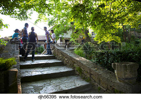Stock Image of Bulgaria, Europe, Black Sea, Balchik, Summer Palace.