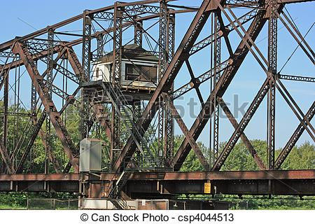 Stock Photos of Old Swing Bridge.