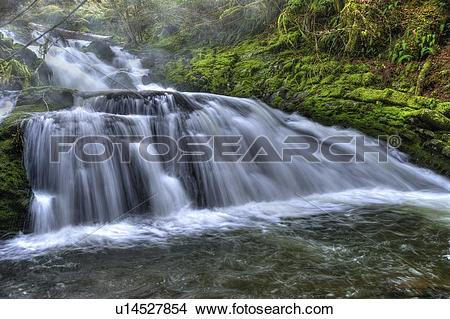 Stock Photo of Falls on the Cowichan River fr the Marie Canyon.
