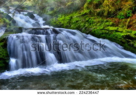Flowing River Stock Photos, Royalty.