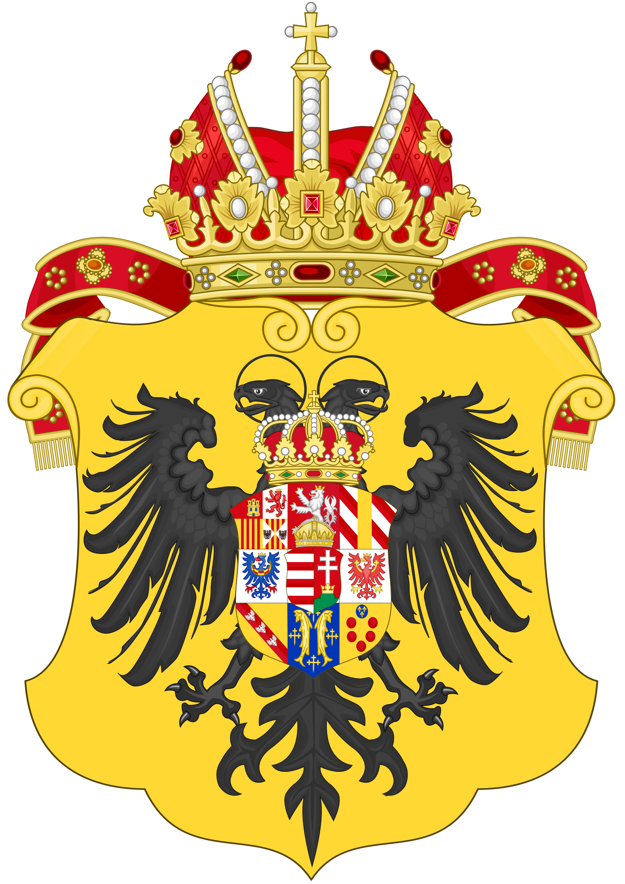 File:Greater Coat of Arms of Marie Therese, Holy Roman Empress (Or.