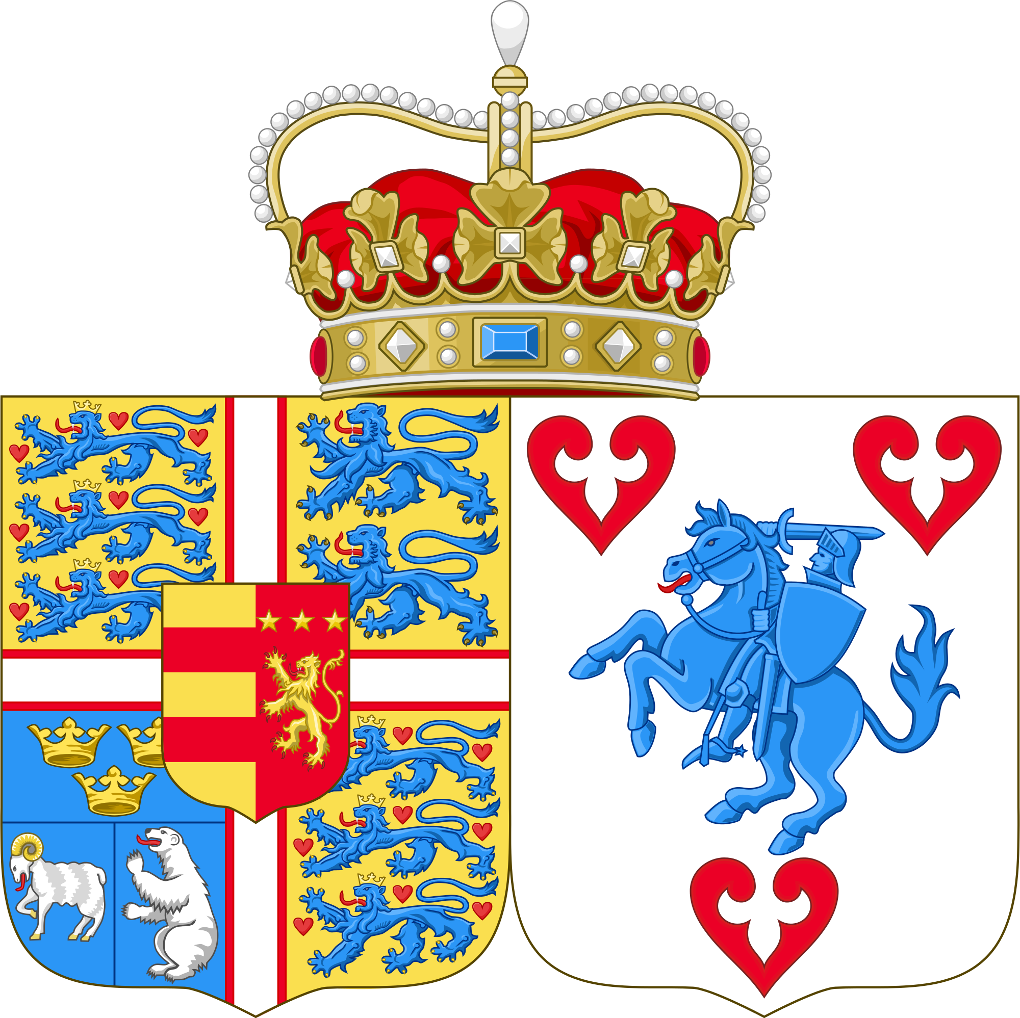 File:Coat of arms of Princess Marie of Denmark.svg.