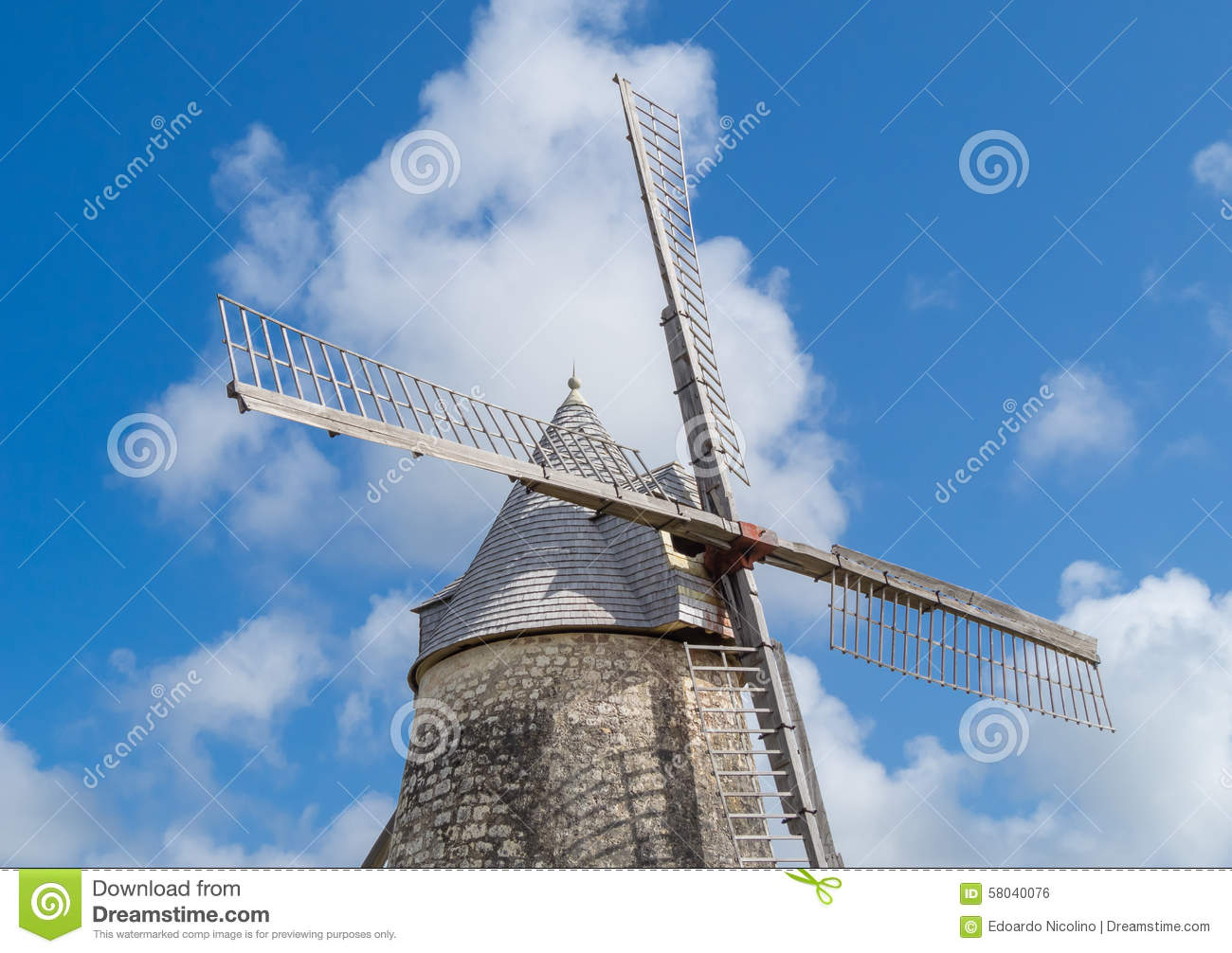 Detail Of Windmill In Marie.
