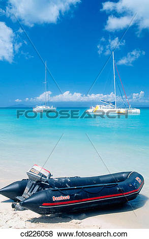 Pictures of Beach. Marie Galante Island. Guadalupe. West Indies.
