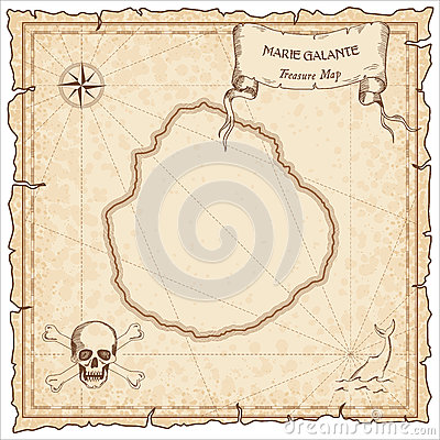 Marie Galante Old Pirate Map Stock Illustrations.