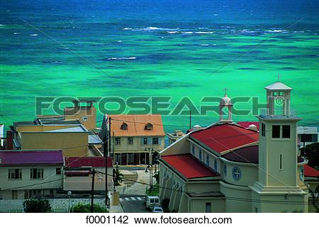 Stock Photo of French West Indies, Guadeloupe, Marie Galante.
