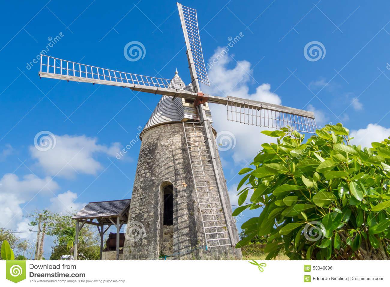 Old Windmill Of Bezard In Marie.