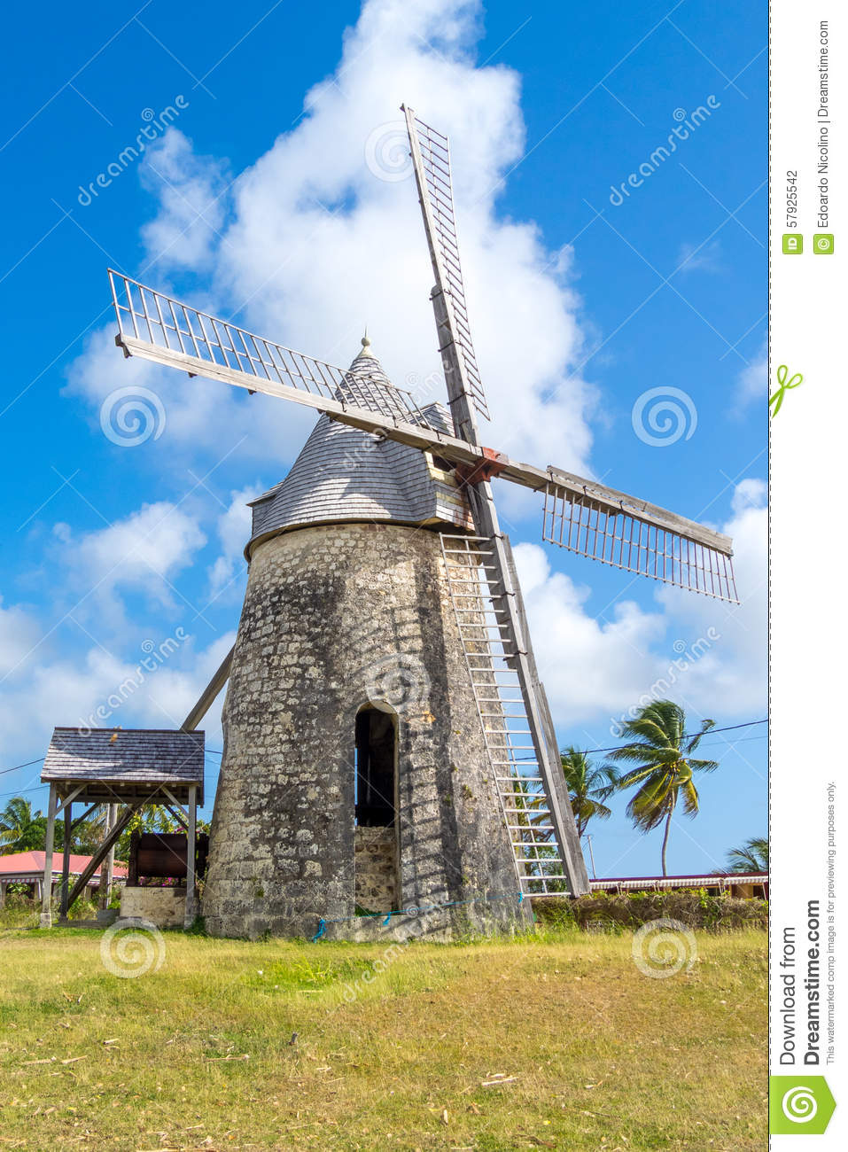 Ancient Windmill Of Bezard In Marie.