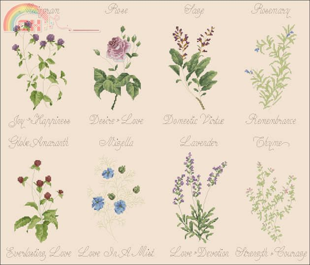 Wedding Herbs Marie Barber from Just Cross Stitch 2004.