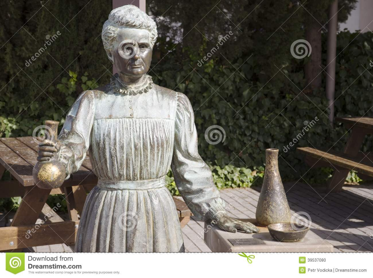 Marie Curie Stock Photo.