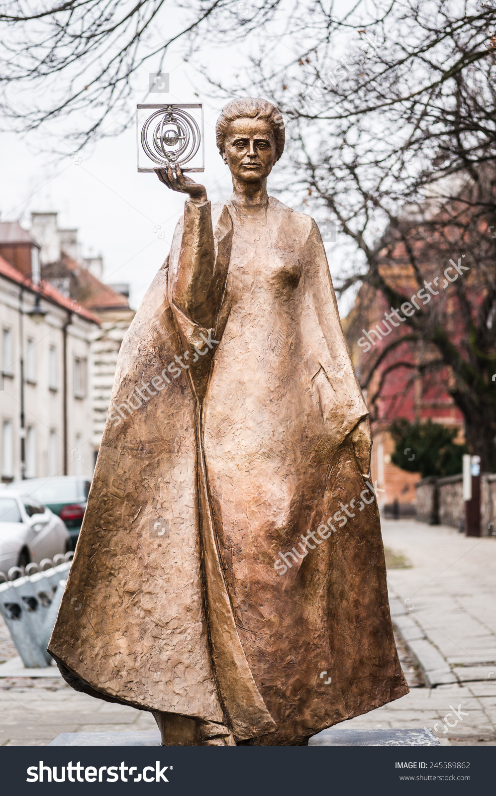 Warsaw Poland January 2 2014 Sculpture Stock Photo 245589862.