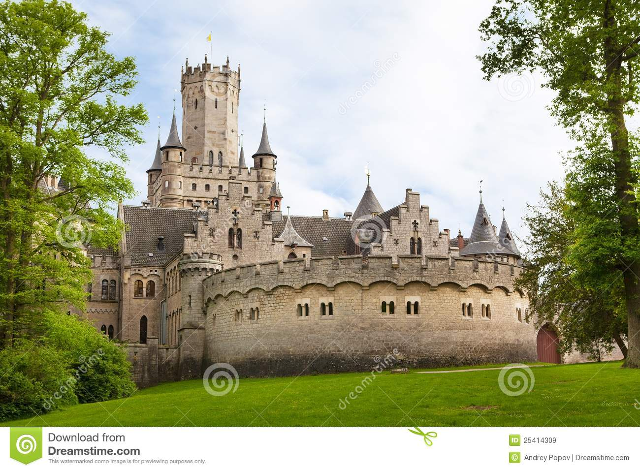 Marienburg Castle, Germany,,, Royalty Free Stock Images.