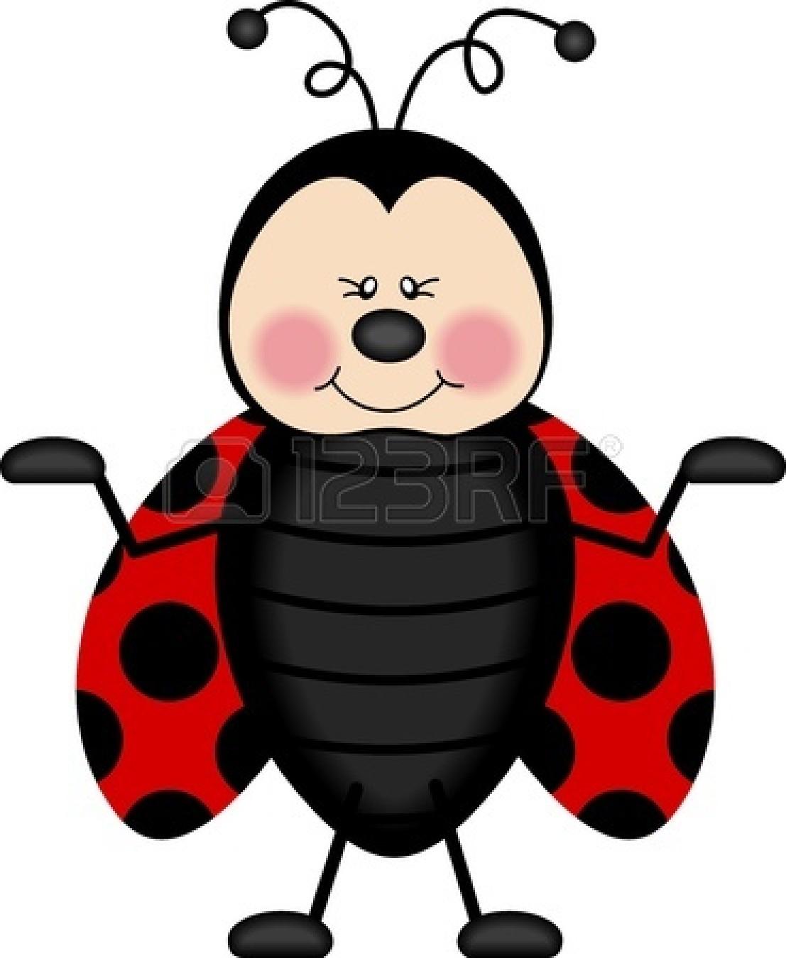 Ladybug Flying Away.