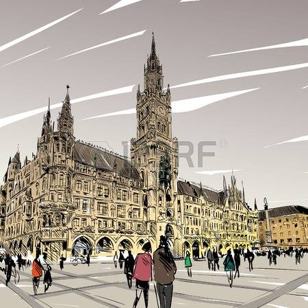 116 Munich Cathedral Stock Vector Illustration And Royalty Free.