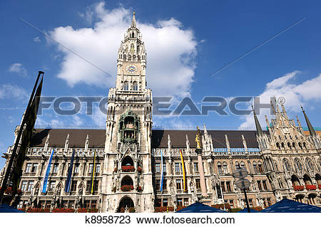 Stock Photo of munchen marienplatz k8958723.