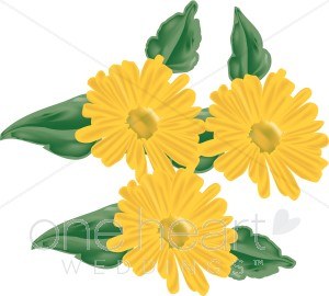 Yellow Marigolds Clipart.