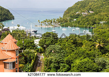 Picture of Marigot Bay Beyond Orange Building k21084177.