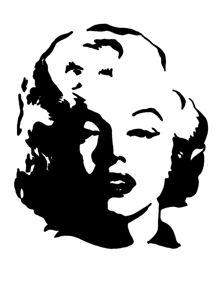 This is a graphic of Simplicity Marilyn Monroe Drawing Outline