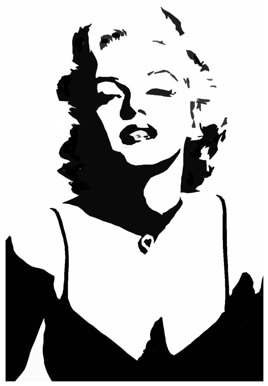 Marilyn monroe gangster clipart.