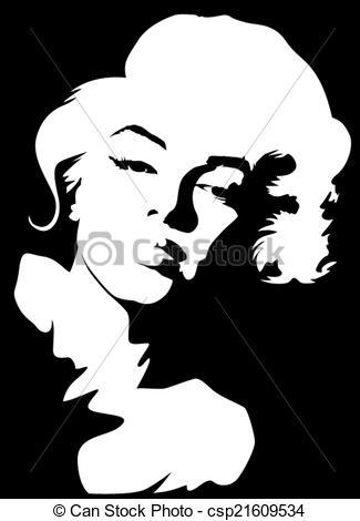 Drawings of Marilyn Monroe.