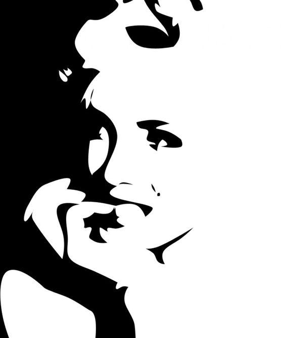 Marilyn Monroe Silhouette Red Lips Clipart.