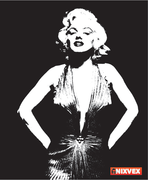 Black And White Marilyn Monroe Clipart.