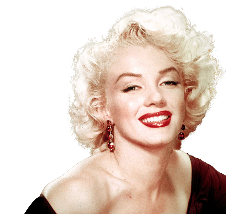 Marilyn Monroe Face Close Up transparent PNG.