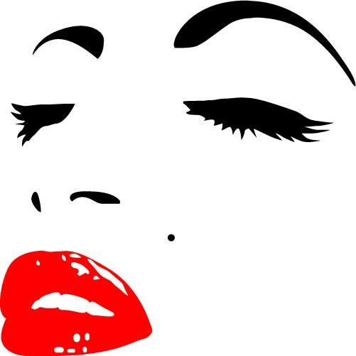 Marilyn Monroe Silhouette Red Lips Clipart 20 Free