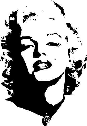 marilyn monroe stencil.