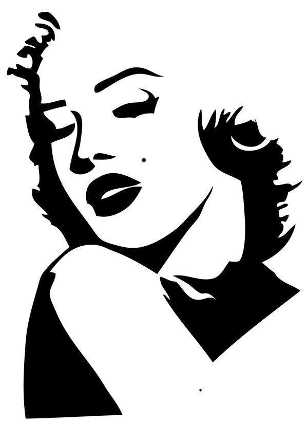 25+ best ideas about Marilyn Monroe Stencil on Pinterest.