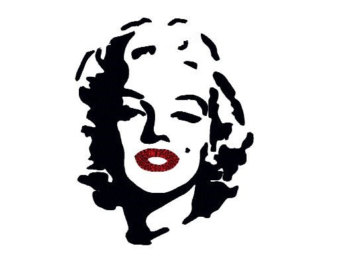 marilyn monroe silhouette red lips clipart