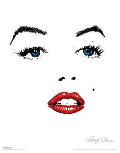 Asolutely LOVE this minimalistic Marilyn Monroe modern pop art.