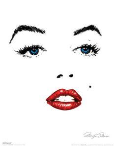 Asolutely LOVE this minimalistic Marilyn Monroe modern pop art.