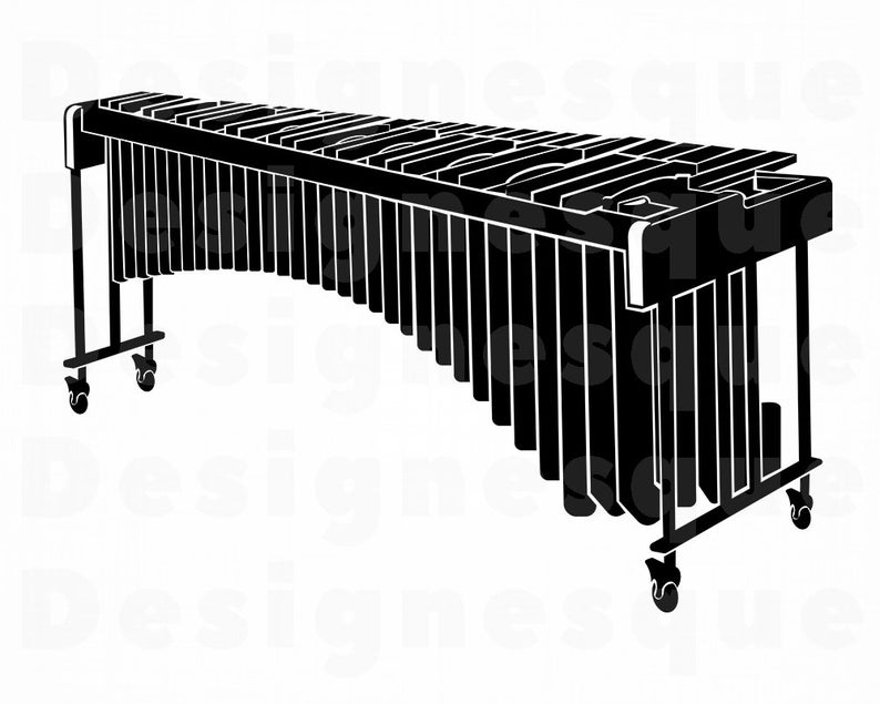 Marimba SVG, Marimba Clipart, Marimba Files for Cricut, Marimba Cut Files  For Silhouette, Marimba Dxf, Marimba Png, Eps, Marimba Vector.