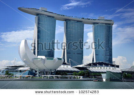 Marina Bay Sands Stock Photos, Royalty.