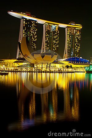 Marina Bay Sands Editorial Photo.
