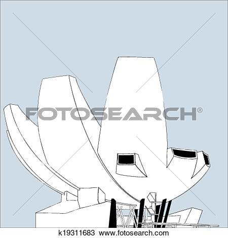 Clipart of Singapore Museum at Marina Bay Sands k19311683.